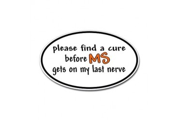 Last Nerve Sticker (Oval)