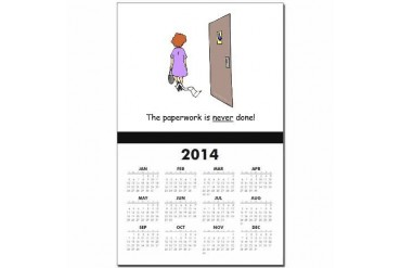 Paperwork Never Done Humor Calendar Print by CafePress