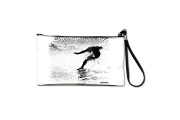 Artistic Surf Tee 17.jpg Sports Clutch Bag by CafePress