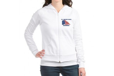 Marine GRANDMA flag Family Jr. Hoodie by CafePress