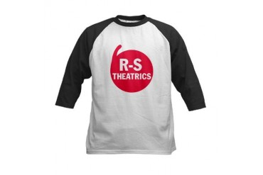 R-S Theatrics Logo Red Red Kids Baseball Jersey by CafePress