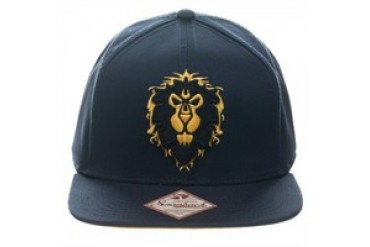Activision Blizzard World of Warcraft Alliance Lion Logo Embroidered Snap Closure Hat