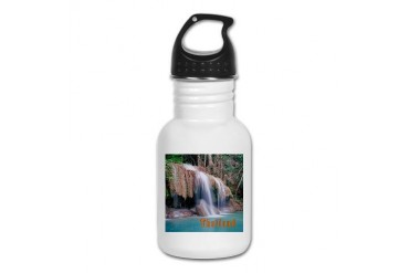 Erawan Falls Nature Kid's Water Bottle by CafePress