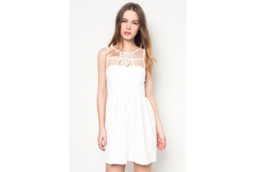 Something Borrowed Cage Front Dress