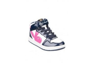 PLAYBOY BUNNY Ankle Sport Shoes Black And White With Playboy Logo In Pink