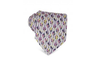 Abstract Floral Twill Silk Tie