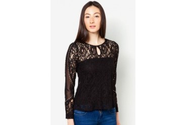 DressingPaula Long Sleeve Top With Lace