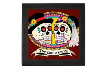 Los Novios Sugar Skull Keepsake Box