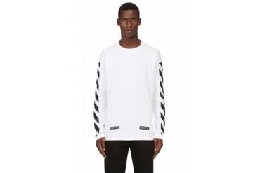 Off white White And Black Printed Virgil Abloh Edition Shirt