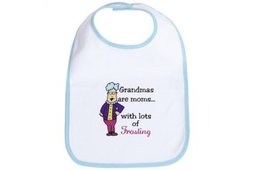 Lots Of Frosting Grandma Bib by CafePress