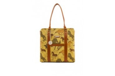 Santa Barbara Polo & Racquet Club Signature Print Square Tote Bag