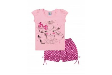 Infant Toddler Girl Shirt amp Polka Dot Shorts 2pc Outfit Summer 1-3Y