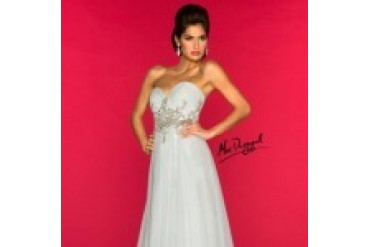 Mac Duggal Black White Red - Style 78730R