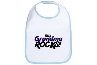This Grandma ROCKS Funny Bib by CafePress