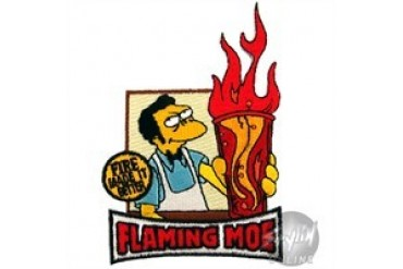 Simpsons Flaming Moe Patches
