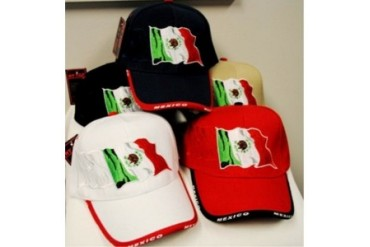 Ddi Adjustable Baseball Hats Caps Mexican Flag (pack Of 24)