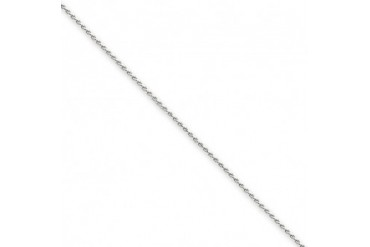 0.8mm, 14K White Gold, Diamond-Cut Spiga Chain - 24 inch