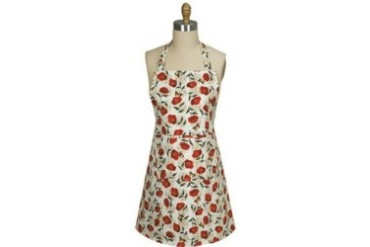 Bright Poppies and Butterflies Kitchen Print Girlie Apron
