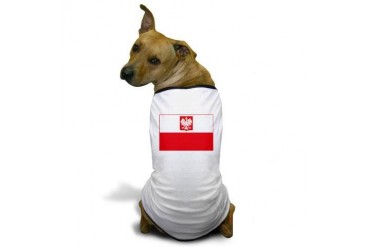 Polish Falcon Flag Flag Dog T-Shirt by CafePress
