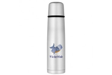 W is for Whale Large Thermos Bottle Baby Large Thermosreg; Bottle by CafePress