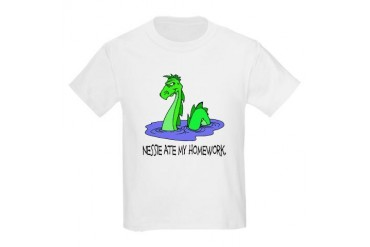 Nessie Ate Homework Kids Light T-Shirt