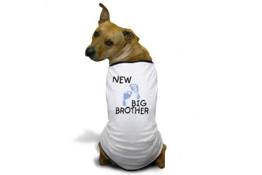 New Big Brother (blue) Dog T-Shirt