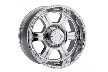 Pro Comp Alloy Wheels Series 6089, 17x8 with 8 on 6.5 Bolt Pattern - Chrome 6089-7882 Pro Comp Xtreme Alloy Wheels