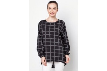 Ethnic Chic Ayu Checked Blouse