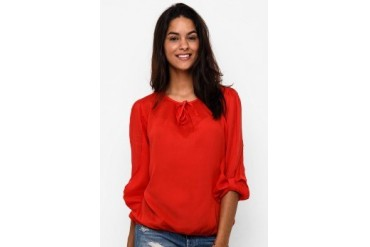 Triset Ladies Long Sleeve W/O Collar Blouse