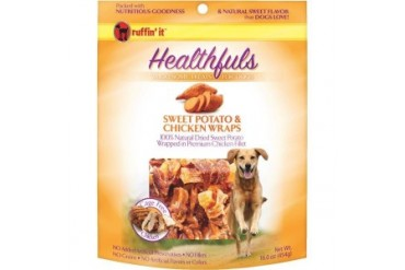 Westminster Pet 08314 Ruffin It Sweet Potato And Chicken Wraps Dog Treat