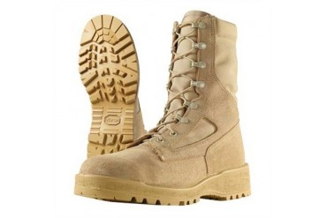 8'''' Hot Weather Steel Toe Combat Boots - 8'''' Hot Weather Steel Toe Combat Boots Tan Size 9 1/2r