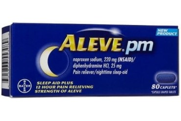 Aleve PM Overnight Pain Relief and Sleep Aid 80 Caplets Bottle