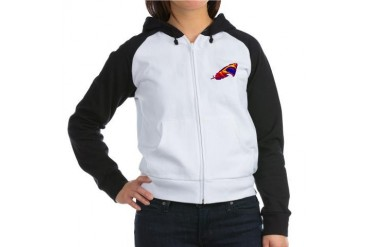 SHARK Humor Women's Raglan Hoodie by CafePress