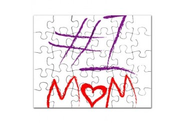 1 Mom Family Puzzle by CafePress
