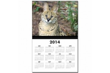 Keida Serval Infant Calendar Print by CafePress