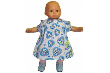 Baby Doll Heart Print Dress With Leggings