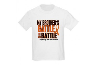 My Battle Too (Brother) Orange Kids Light T-Shirt