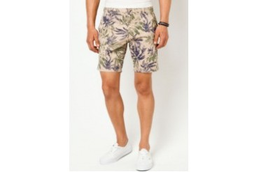 All Over Printed Leaf Shorts