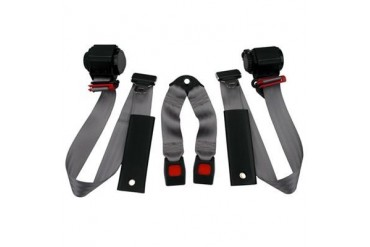 Beams Industries Inc Rear 3-Point Shoulder Harness Seat Belts in Gray JPYJ9295RKT-65 Seat Belt