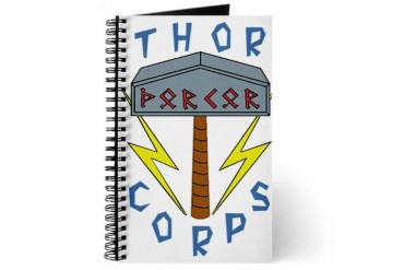 Thor Corps Hammer Large Viking Journal by CafePress