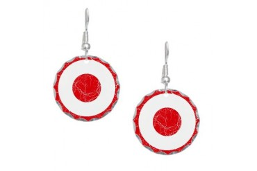Turkey Roundel Art Earring Circle Charm by CafePress