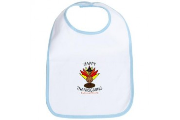 HAPPY THANKSGIVING - LOVE TO BE ME Thanksgiving Bib by CafePress