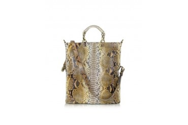 Large Python Leather Tote