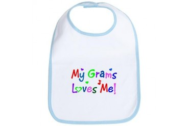My Grams Loves Me des. 1 Grandma Bib by CafePress
