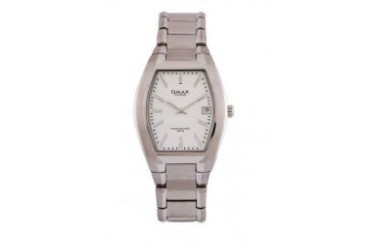 Omax ST0641S/S-Silver Dial Stainless Steel Silver Strap Watch