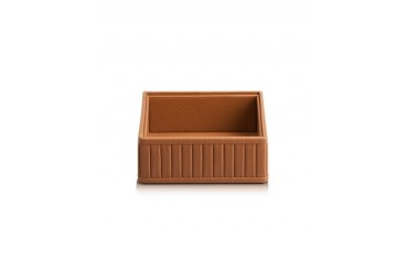 Genuine Leather Square Valet Tray