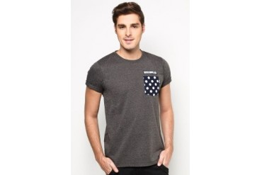 NEVER GROW OLD Polka Pocket Tee