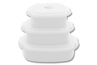 6pc Microwave Cookware - White