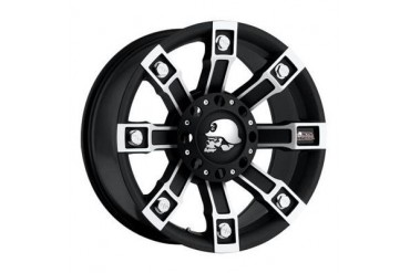 Pro Comp Alloy Wheels Metal Mulisha Series 7113, 18x9 with 6 on 5.5 and 6 on 135 Bolt Pattern - Flat Black with Machining 7113-8939 Pro Comp Xtreme Alloy Wheels
