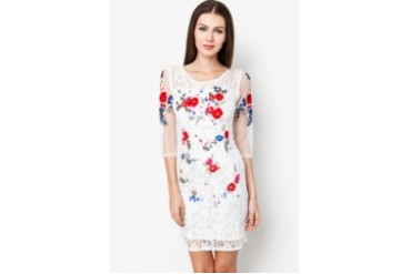 ICE dressme Embroidered Lace Dress